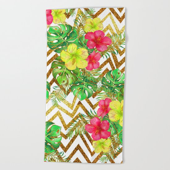 Summer Glitter #5 Beach Towel