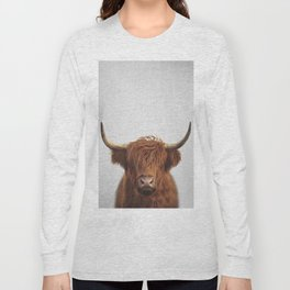 Highland Cow - Colorful Long Sleeve T-shirt