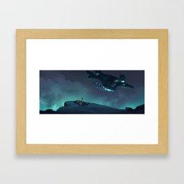 Under the Night Sky Once More Framed Art Print