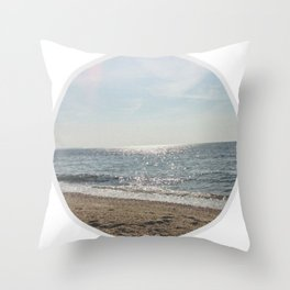 Faded Seashore Throw Pillow