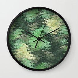 Green Illusions Wall Clock