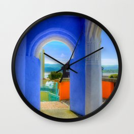 Continental Blue Archway Wall Clock