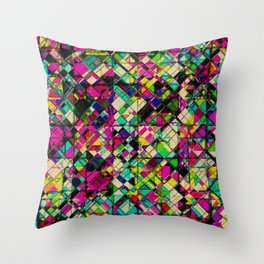 Crystal Cohesion Throw Pillow