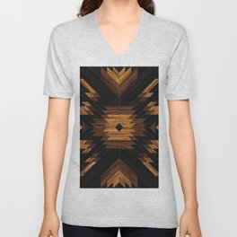 Urban Tribal Pattern No.7 - Aztec - Wood Unisex V-Neck