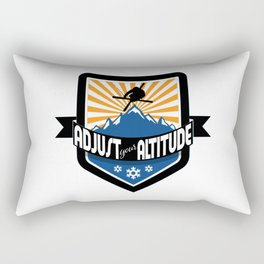 Adjust Your Altitude | Ski Series | DopeyArt Rectangular Pillow