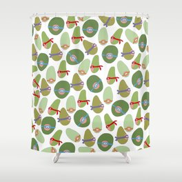 Ninja Avocados Shower Curtain
