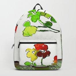 Nasturtiums and Coffee Backpack