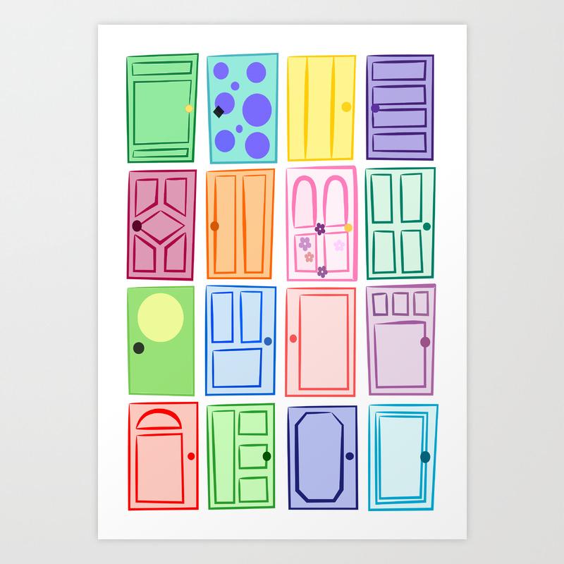 Monster S Inc Doors Art Print By Anluong Society6