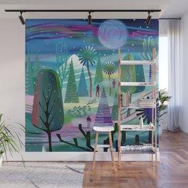 Moon Bath Wall Mural