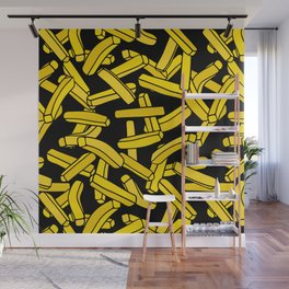 French Fries on Black Wall Mural