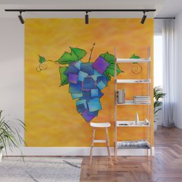 Jamurissa - square grapes Wall Mural