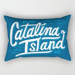 Catalina Island Blue Rectangular Pillow