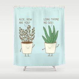 garden etiquette Shower Curtain