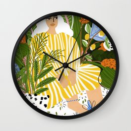 The Jungle Lady Wall Clock