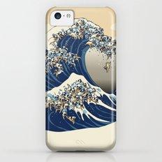 The Great Wave of Pugs Vanilla Sky Slim Case iPhone 5c