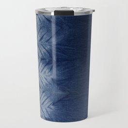 Shibori Chevron Stripe Travel Mug