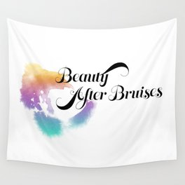 Beauty After Bruises (Black) Wall Tapestry