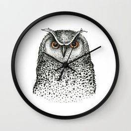Graphic owl Wall Clock