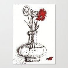 Red Petal Canvas Print