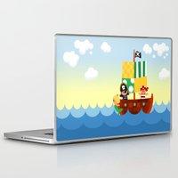 pirate ship Laptop & iPad Skins featuring pirate ship by Alapapaju