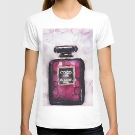 Noir perfume - Watercolor fashion illustration T-shirt