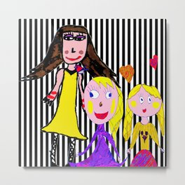 Girls by Elisavet | Friends #society6 Metal Print