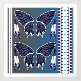 Butterfly Nation Blue Art Print