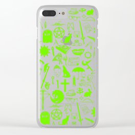 Buffy Symbology, Green Clear iPhone Case