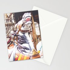 Wild horse race Stationery Cards