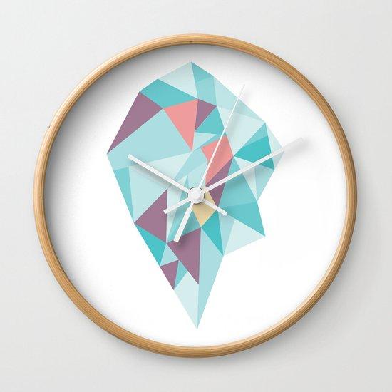 Facet vector II Wall Clock