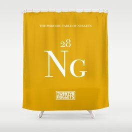Periodic Table of Nuggets Shower Curtain