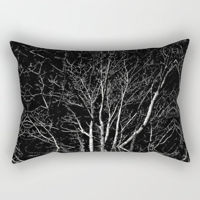 Creepy Tree Refraction Rectangular Pillow