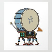 Robot-Parade-TWO Art Print