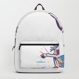Dabbing Unicorn Maternity Backpack