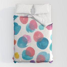 Colour mixing splotches Comforters