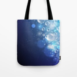 Illustraiton of underwater background with light rays Tote Bag
