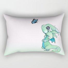 Little Dragon and Butterfly Rectangular Pillow