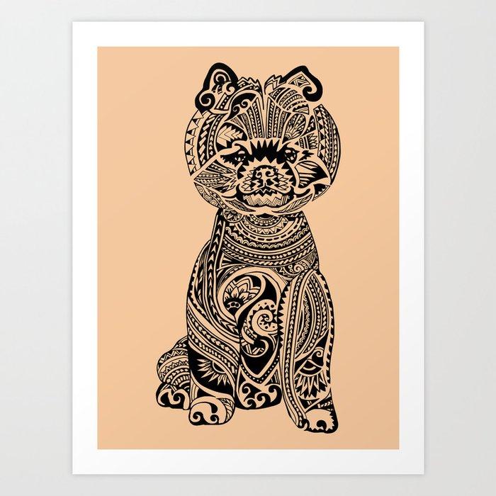 Polynesian Pomeranian Art Print by huebucket | Society6