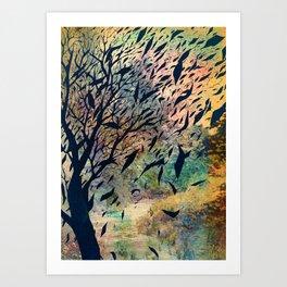 Away to the sky Art Print