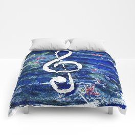 G clef or the sun key Comforters