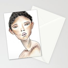 Bonnie in White Stationery Cards
