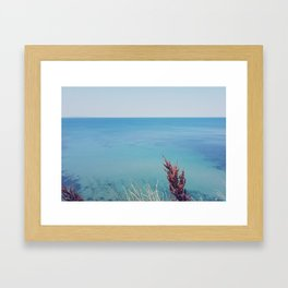 Marine blue Framed Art Print