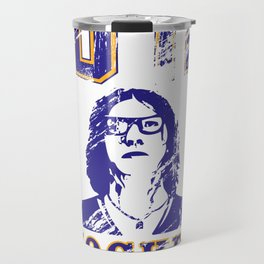 """Old Time Hockey, Coach?"" Travel Mug"