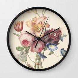 Henriëtte Geertruida Knip - a bouquet - 1820 Wall Clock