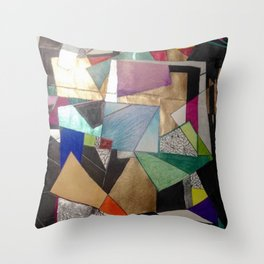 Lost in The States of Mind Throw Pillow