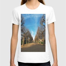 Bare trees alley T-shirt