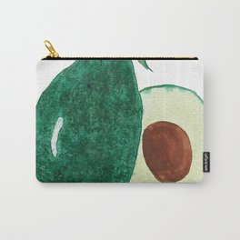 green avocado watercolor Carry-All Pouch