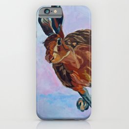 Hare Rabbit and Pink iPhone Case