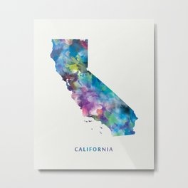 California Map Metal Print
