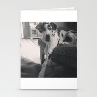 great dane Stationery Cards featuring Great Dane by aubreyplays